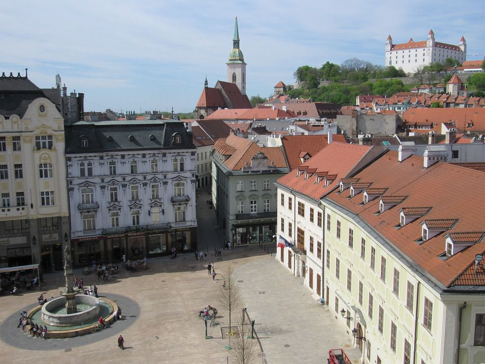 Lose track of time in one of the winding streets of one of the most picturesque affordable Eastern European escapes, Bratislava.