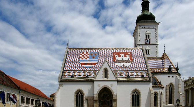 The charm of Zagreb is in the small details - like the tiles on the roof of St. Mark's church.