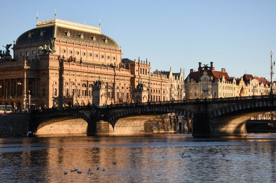 The National Theatre is one of the most valued sights in Prague.