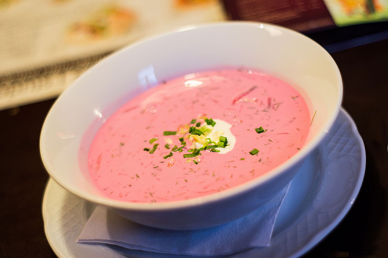 One of the most traditional Lithuanian dishes, but also a dish which is much loved in the whole of Eastern Europe, is the cold borscht.